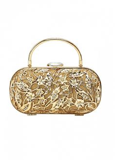 Buy discount Gorgeous Metal Shell With Austrian Rhinestones Gold Clutch Bags,Evening Handbags / Clutches at Dressilyme.com