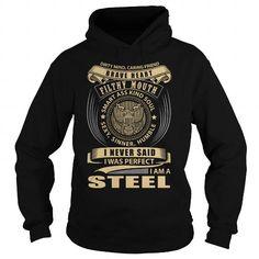 STEEL T Shirts, Hoodies, Sweatshirts. CHECK PRICE ==► https://www.sunfrog.com/LifeStyle/STEEL-122422356-Black-Hoodie.html?41382