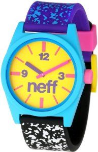 Neff Men's NF0201-multi spreckle Custom Designed Neff and PU Strap multi spreckle Watch NEFF. $30.00. Analog. Custom neff design. Unisex. Water-resistant to 50 M (165 feet). Multispeckle
