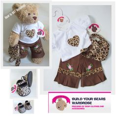 4545c997c36 Build a Bear fit Teddy Bear Clothes Leopard Outfit   Backpack - Shoes  Optional Leopard Outfits
