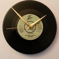 "kid creole & the coconuts - stool pigeon    7"" vinyl record clock"