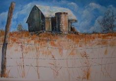 Barn in New Hartford 2, acrylic on masonite