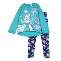 Every Girl Likes To Sparkle Disney Frozen Fleece 2 Piece Set Sizes 2T 3T 4T  Made From Top 100% Polyester Leggings 98% Cotton 2% Spandex Label Disney Frozen Officially Licensed Disney Frozen Apparel Warehouse Location The Woodland Texas Shipping Cost Free Shipping Ships In 1 Week