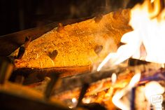 Traditional way to prepare salmon in Lapland on the open fire –loimulohi. Enjoyed only at special places!