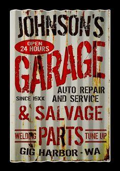 Vintage Garage Signs