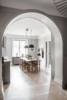 The Modern Scandinavian Dining Room For The Fashionable Girl Kitchen Interior, Room Interior, Interior Design, House Ideas, Nordic Design, Scandinavian Interior, Scandinavian Style, Dining Room Design, Dining Rooms