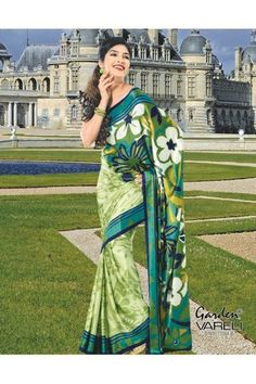 Buy Ever So Sweet Green #CrepeSaree Online at Rs.1,211/- at Best Low Price