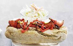 Hot dog med coleslaw