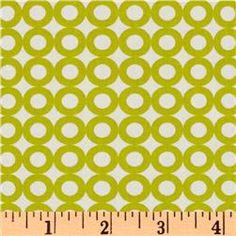 Modern Whimsy Organic Circles Lime/ Fabric.com $9.98