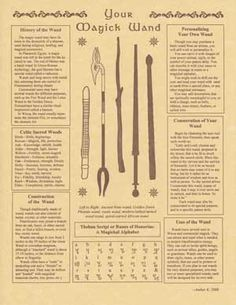 "Your Magick Wand Parchment 8.5 x 11""                                                                                                                                                                                 More"