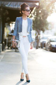 Jeansjacke kombinieren: Businesstauglich in Blazerform