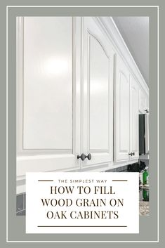 How To Fill Wood Grain On Oak Cabinets The simplest way to hide the grain on your wood cabinets. NO PUTTY KNIFE NEEDED! Watch my free mini course on how to make your grainy cabinets smooth as silk! Kitchen Cabinet Colors, Diy Kitchen Cabinets, Wood Cabinets, Kitchen Redo, Kitchen Ideas, White Cabinets, Painted Oak Cabinets, Kitchen Counters, Cheap Kitchen