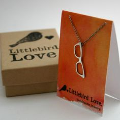 Those Make You Look So Smart Eyeglasses Necklace by littlebirdlove