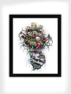 Daryll Peirce - Hand-Embellished Prints - Or The Bad News First