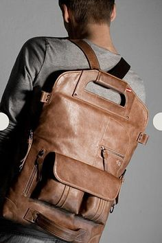 Man's/Men's Leather Backpack