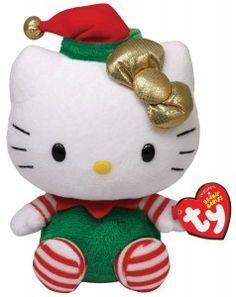 Ty Beanie Babies Hello Kitty – Green Christmas Outfit for $5.66!