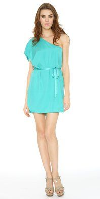 Kiley One Shoulder Dress: loving the color plus cut