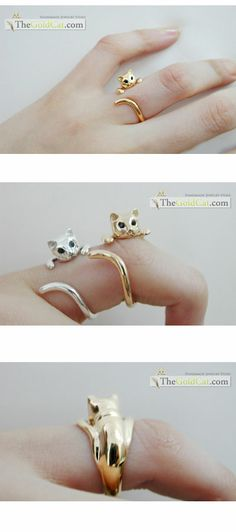 GOLD - Nabi cat ring (Blue eyes)    I wish: A) That I could afford this, and B) that my kid could wear it without messing with it.