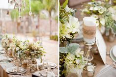 burlap-wrapped candle | Greer G Photography