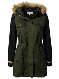 Zeta Parka Coat - Vila Basic - Ivy Green - Jackets And Coats - Clothing - Women - Nelly.com Uk