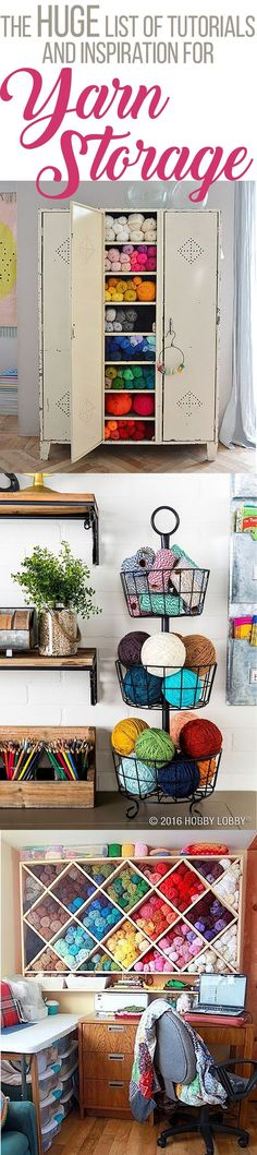 The Huge List of Yarn Storage Inspiration and Tutorials (Great for On a Budget!) — Megmade with Love