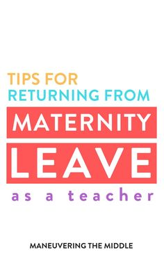 Returning to the classroom from maternity leave as a teacher is a challenge! Here are some tips based on my experience to set yourself up for success. Activities To Do, Classroom Activities, Classroom Organization, Maternity Leave Teacher, Learning To Say No, Return To Work, Ask For Help, He Is Able, Your Teacher