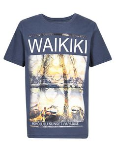 Pure Cotton Waikiki T-Shirt Clothing