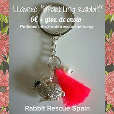 "#nuevo llavero ""Sparkling Rabbit"" 6€ + gtos. de envio. Unidades limitadas. Pedidos: info@rabbitrescuespain.org"