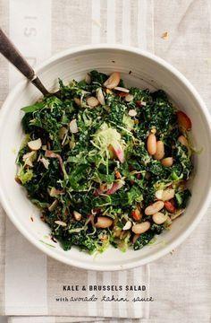 Kale Salad w/ Avocado Tahini Sauce Recipe