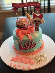 Lol Birthday Cake, Frozen Birthday Cake, 8th Birthday, Birthday Parties, Surprise Cake, Surprise Birthday, Lol Doll Cake, Lolly Cake, Hello Kitty Cake