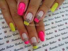 19 Ideas for pedicure rosa neon Aycrlic Nails, Diy Nails, Holiday Nail Designs, Nail Art Designs, Nails Design, Pedicure At Home, Summer Toe Nails, Leopard Nails, Healthy Nails