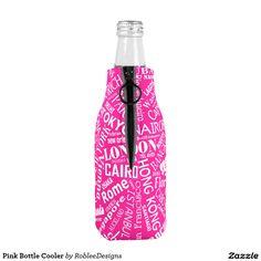Pink Bottle Cooler