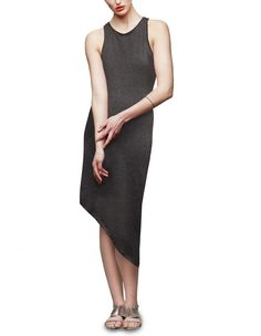 Check out this dress from Mostly Grace Asymmetric Hem Dress - Charcoal