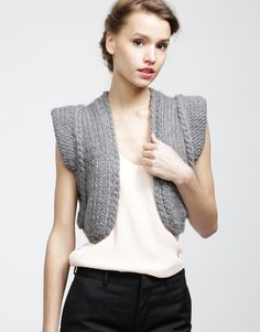 Wool And The Gang knitted vest