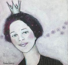 Monica Blom Art: Ny liten akryl 25x25 Viola