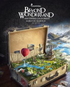 Beyond Wonderland 2016 - Graphic Desing Ads Creative, Creative Posters, Creative Advertising, Advertising Design, Creative Design, Creative Flyers, No Photoshop, Photoshop Design, Bienes Raises