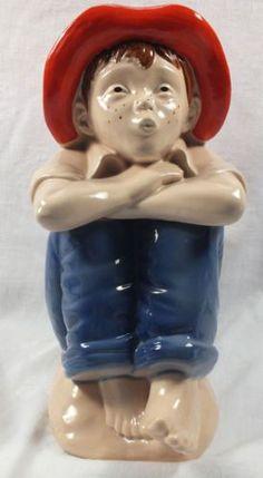 cookiejar.quenalbertini:  Vintage Pottery Barefoot Boy Blessings on Thee Cookie Jar | eBay