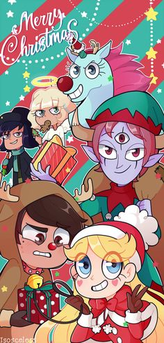 the Force of Evil Cartoon Crossovers, Cartoon Tv, Cartoon Shows, Cute Cartoon, Merry Christmas Happy Holidays, Christmas Art, Starco, Cute Wallpaper Backgrounds, Cute Wallpapers