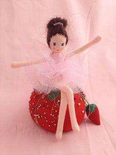 handmade fairy doll | Pink Sparkle Fairy Ballerina, Waldorf Fairy Doll, Handmade Fairy