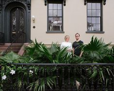 Inside a Charleston Rowhouse Designed by Workstead Studio - The husband-and-wife co-founders of Workstead design studio, RobertHighsmith and Stefanie Brechbuehler, outside - The New York Times