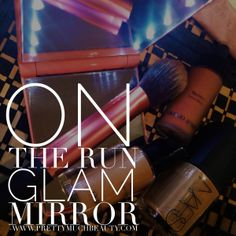 Makeup on the go? Pretty Much Beauty Glam Mirrors feature 8 LED lights and dual sided mirrors. Available in 4 colors. Shop www.PrettyMuchBeauty.com Glam Mirror, Mirrors, Led, Lights, Colors, Makeup, Pretty, Shopping, Beauty