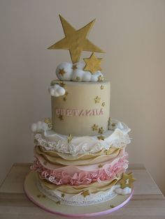 Twinkle Twinkle Little Star... 1-st birthday cake for baby girl :) her name means Light (in bulgarien)