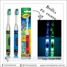 A escova de dentes GUM® Crayola® Timer Light é uma forma colorida e com muitas luzes para educar seu filho sobre a importância da escovação, a prevenção do acúmulo de placa, os fundamentos para uma boca saudável ao longo da vida.Procure na nossa vitrinewww.mamaeachei.com.br➡️Produtos➡️Loja Drolê Kids.  #escovação #mamaeachei