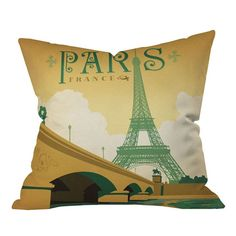 Anderson Design Group Paris Outdoor Throw Pillow