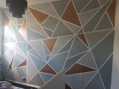 Did this abstract copper and grey wall for my girlfriend over the last few days