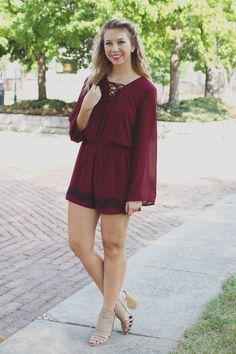 Chiffon Keyhole Open Back Embroidery Detail Romper – UOIOnline.com: Women's Clothing Boutique