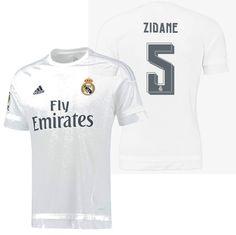 Adidas zinedine zidane real madrid home jersey 2015 16 81560cf92