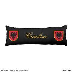 Albania Flag Body Pillow