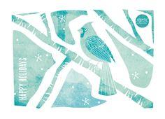 Christmas bird by Ana de Sousa at Minted