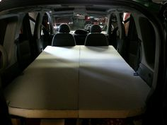 Mattresses cut/fitted! #yarisverso #campercar #diy #camper #funcargo